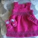 KNITTED PINAFORE SET