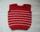 Baby vest - Red with white stripes