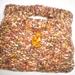 Hand knitted wool blend handbag