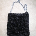 Black knitted sparkle across body / shoulder bag