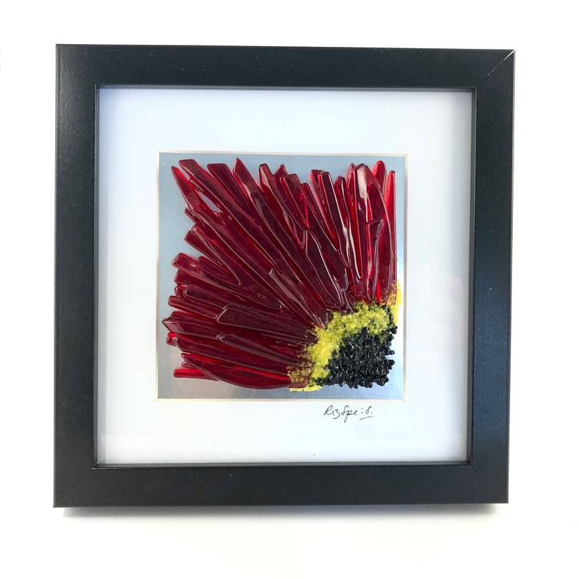 Chrysanthemum Fused Glass Picture