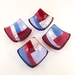 Geometric Fused Glass Dishes - Pinks