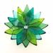 Tiny Flower Bowls - Blues & Greens