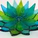 Small Flower Bowls - Blues & Greens