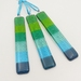 Fused Glass Suncatchers - Aquas and Greens