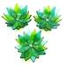 Tiny Flower Bowls - Green