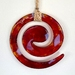 Fused Glass Koru Wallhanging - Red