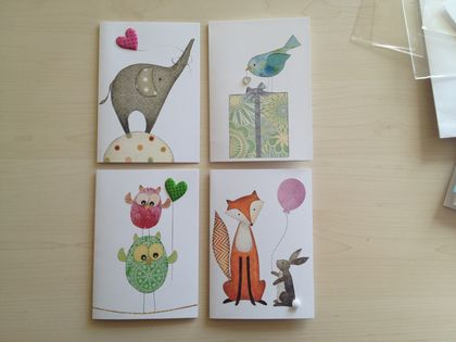 Greeting Cards set of 4