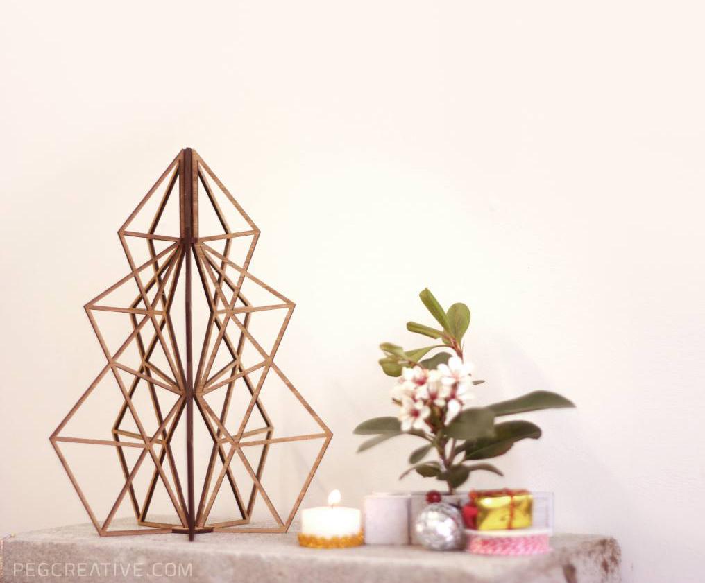 minimalist geo christmas tree felt. Black Bedroom Furniture Sets. Home Design Ideas