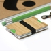 Bamboo and Acrylic Card Holder / Wallet for Men and Woman