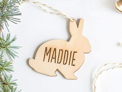 Customised Christmas Ornament - Bunny