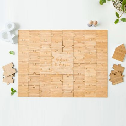 Bamboo Puzzle Guestbook - Customised