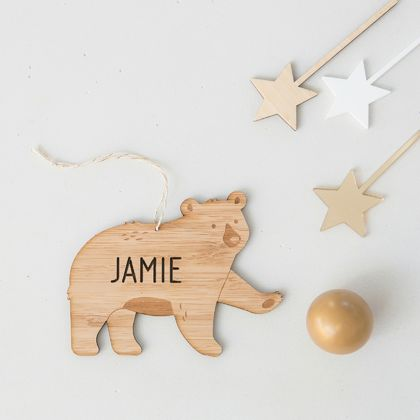 Personalised Bear Decoration