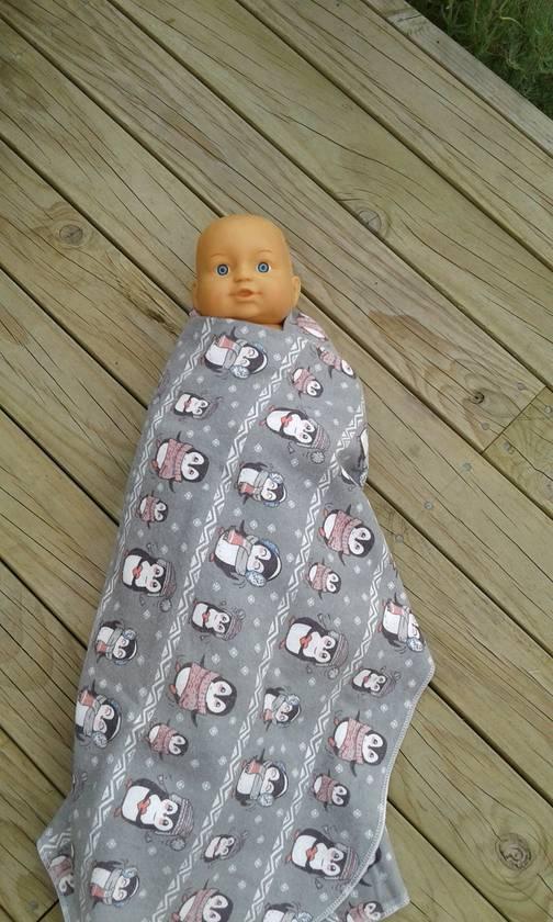 100% cotton flanelette baby wrap