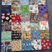 I spy stroller quilt.  100 % cotton