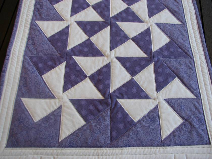 Quilted Table Topper in Purple