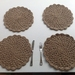 Jute crochet table mats