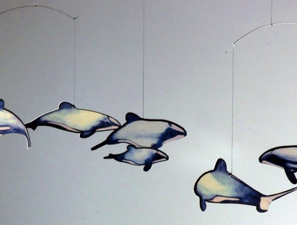 Hector's Dolphins Hanging Mobile