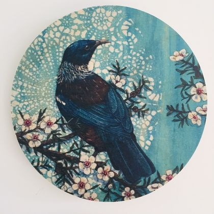 BLUE TUI WALL ART