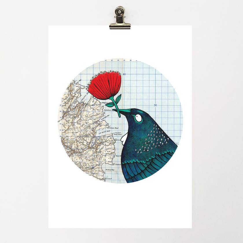 A4 Print - Tui Loves Okains Bay