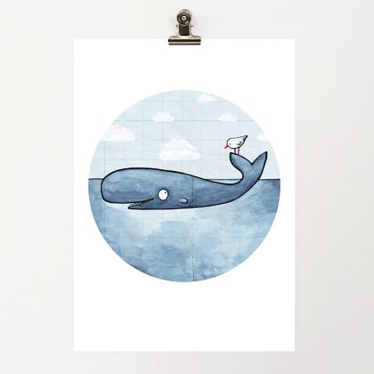 A4 Print - Whale of a Time