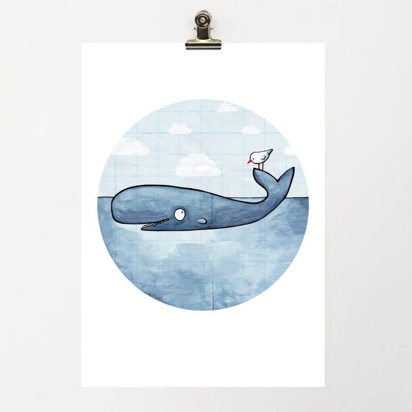 A4 Print – Whale of a time