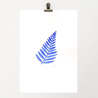 A4 original watercolour– Fern