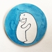 Mounted circle print- Polar bear hug