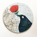 Mounted circle print- Tui loves...