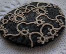 Recycled wool and tatting brooch