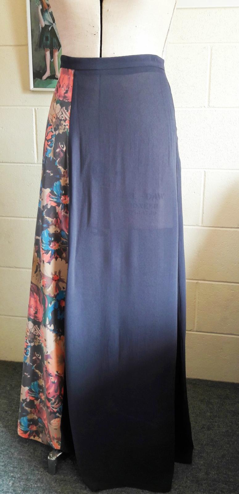 sle sale floral maxi skirt felt
