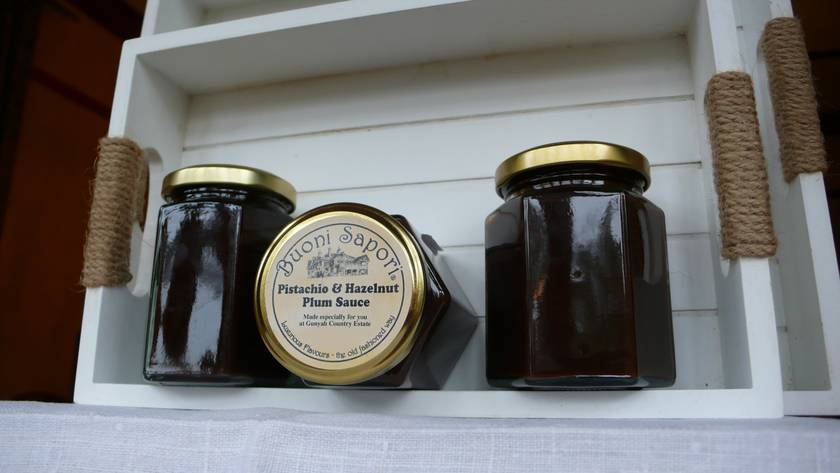 Plum Sauce with Pistachio and Hazelnut