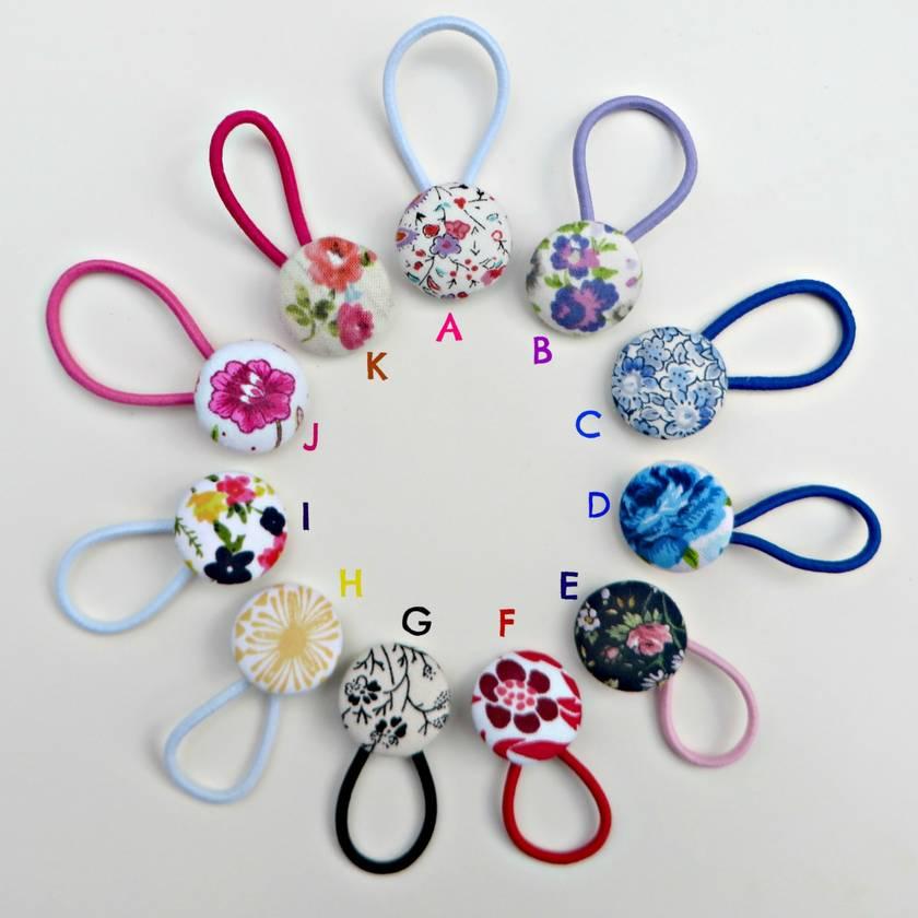 Girls Button Hair Clips