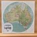 Restickable Laptop Circle Map - Australia