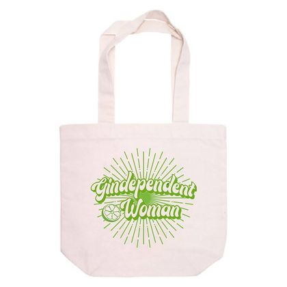 Gindependent Woman Tote Bag 100% Recycled Cotton