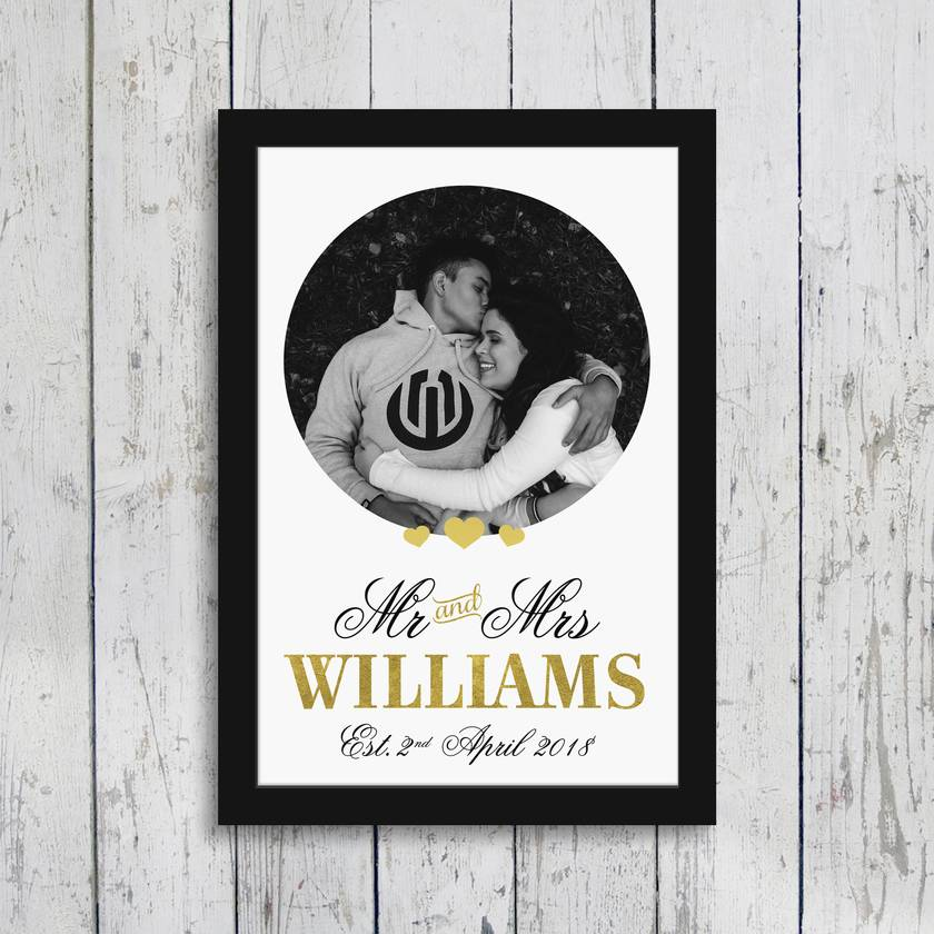 Personalised Anniversary, Couple, Keepsake 8x10 or A4