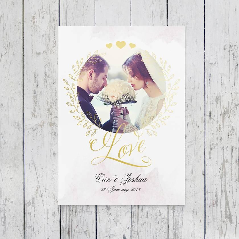 Personalised Anniversary, Wedding, Couple keepsake 8x10 or A4