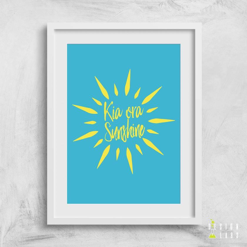 Kia Ora Sunshine 8x10 or A4 Print