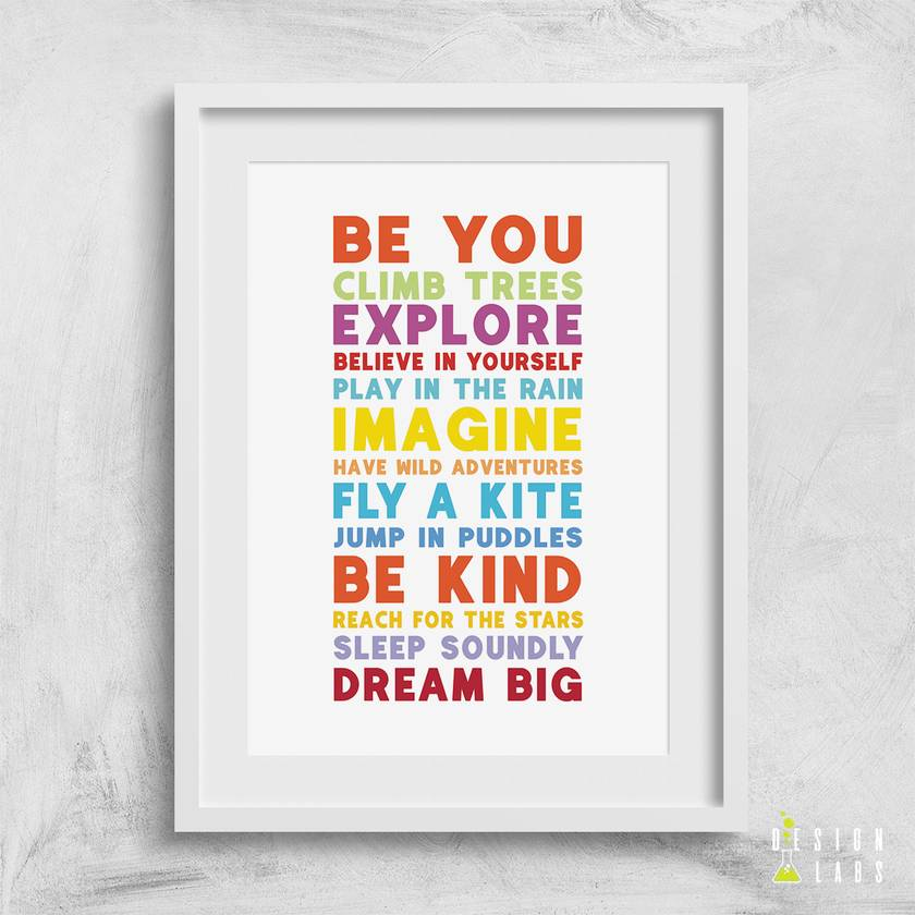 Be You 8x10 or A4 Print