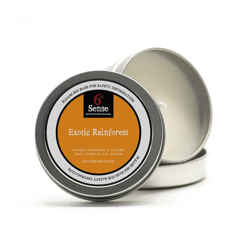 Pure Soy Exotic Rainforest Fragrant Soy Candle - Travel Tin