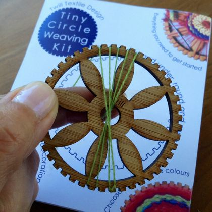 Tiny Circle Hand Weaving Kit