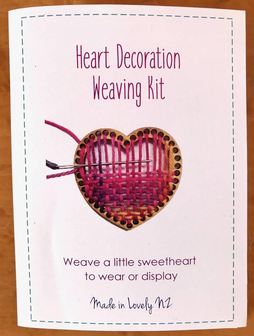 Heart Brooch or decoration Weaving Kit