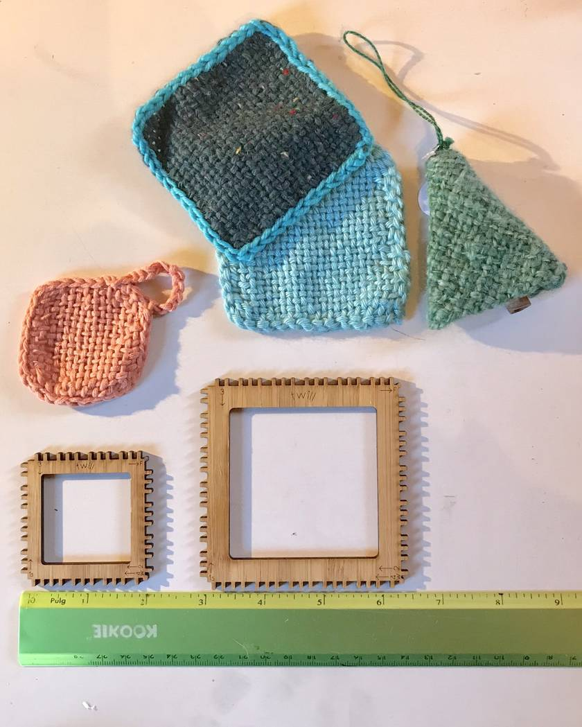 2 Square Looms Weaving Kit (just like a pin loom but with no pins :)