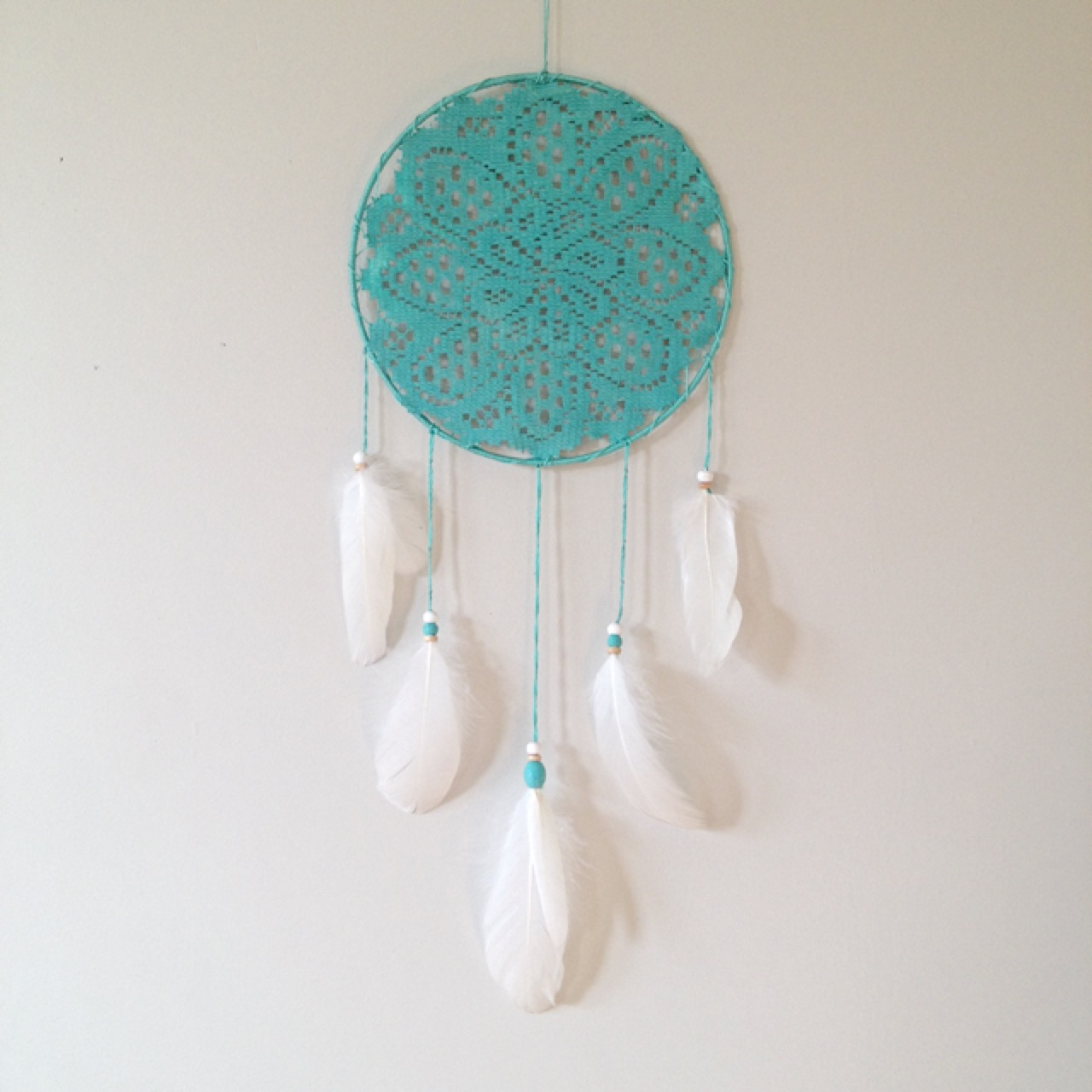 Delicate Turquoise Dream Catcher Made With Naturally Shed