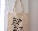 Skills to Pay the Bills - tote bag, black