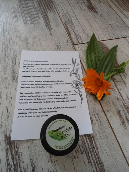 Plantain Calendula Balm for itchy skin