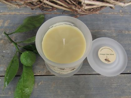 Scented Beeswax Coconut Candles