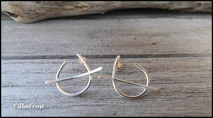 925S Sterling silver JOURNEY earrings