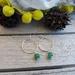 925S Sterling silver Aventurine hoop earrings