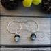 925S Sterling silver Agate hoop earrings
